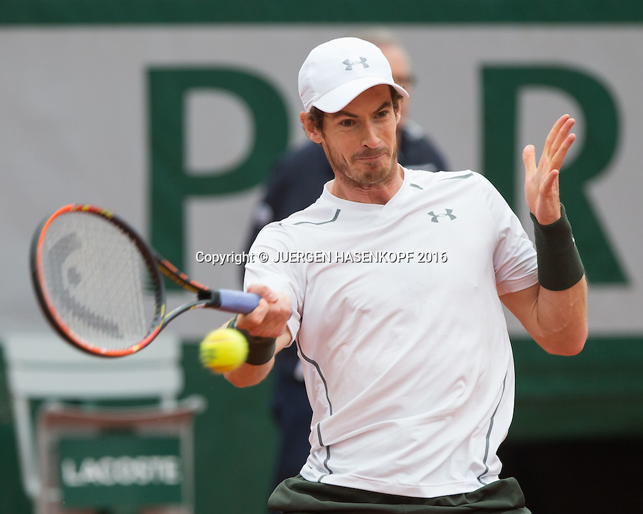 Andy Murray (GBR) ,Herren Finale, Endspiel,<br /> <br /> Tennis - French Open 2016 - Grand Slam ITF / ATP / WTA -  Roland Garros - Paris -  - France  - 5 June 2016.