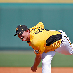 February 25, 2011; Bradenton, FL, USA; Pittsburgh Pirates pitcher Justin Wilson (74) during a spring training exhibition game against the State College of Florida Manatees at McKechnie Field. The Pirates defeated the Manatees 21-1. Mandatory Credit: Derick E. Hingle