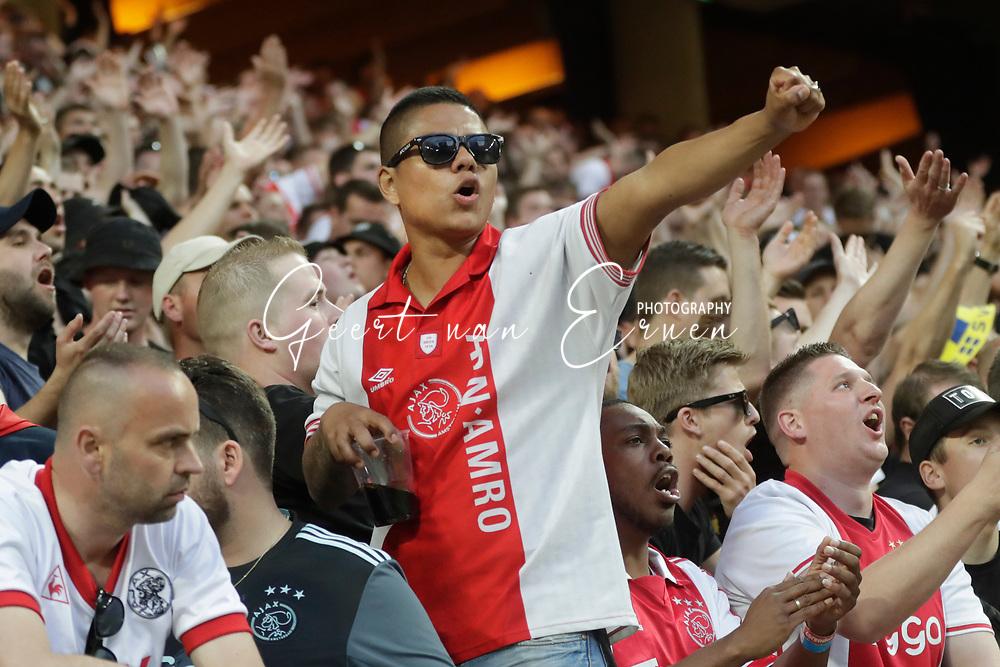 24-05-2017 VOETBAL:AJAX - MANCHESTER UNITED:FINALE:STOCKHOLM<br /> <br /> Supporters van Ajax <br /> <br /> Foto: Geert van Erven