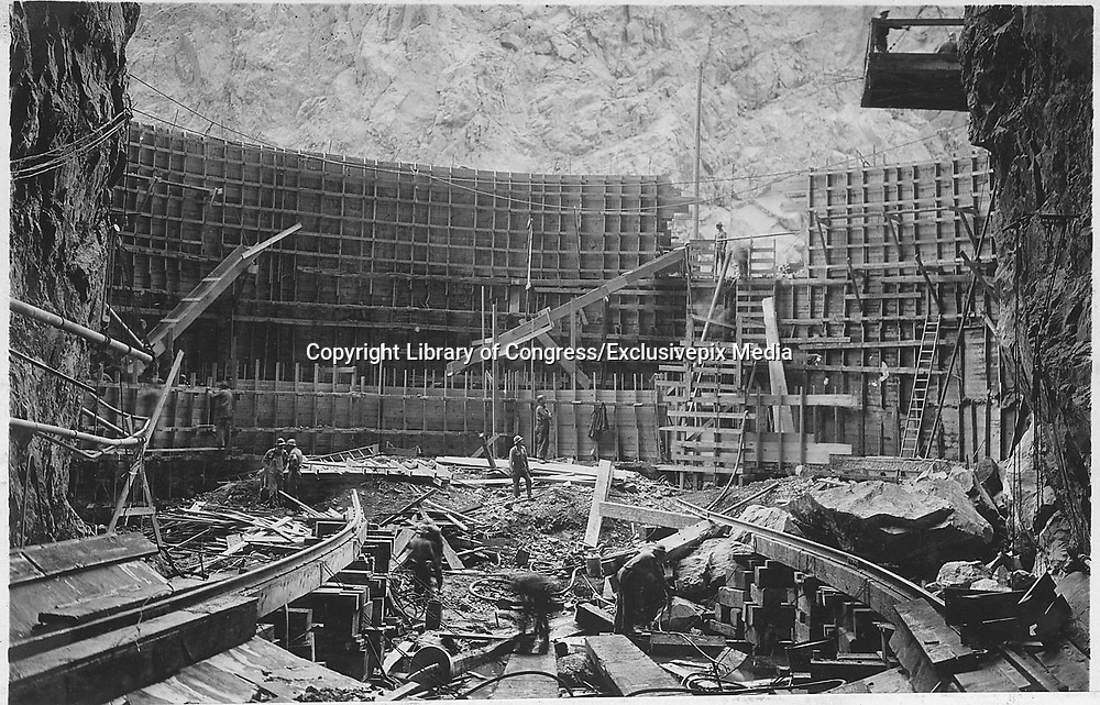 Historical Photos of The World's Most Iconic Landmarks Before They Were Finished<br /> <br /> The world's most iconic landmarks are a big draw for tourists from around the world. But these historical landmarks are not just tourist attractions, they often serve as a milestone in history or a remarkable event in time.<br /> <br /> Photo shows: Hoover Dam, 1932<br /> ©Library of Congress/Exclusivepix Media