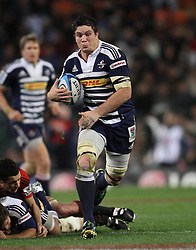 Stormers flank Francois Louw on the attack during the Super Rugby Semi-Final match between DHL Stormers and the Crusaders held at DHL Newlands Stadium in Cape Town, South Africa on 2 July 2011...Photo by Shaun Roy / Sportzpics.net