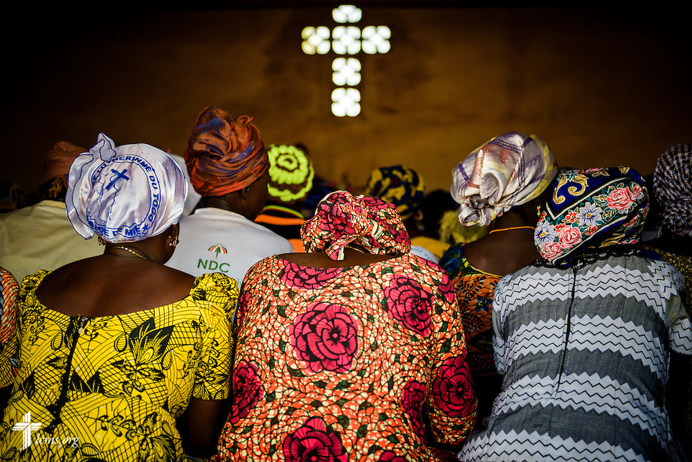 Church members listen during worship at the Lutheran Church of Togo in Mire on Sunday, Feb. 12, 2017, in Mire, Togo. LCMS Communications/Erik M. Lunsford