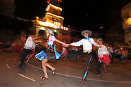 Bolivia. Tarija. Festa di San Roque..If the day is dedicated to the procession, the night is a festival with traditional dances