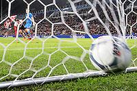 EINDHOVEN - PSV - AZ , Voetbal , Seizoen 2015/2016 , Eredivisie , Philips stadion , 29-11-2015 , PSV speler Luuk de Jong (l) schiet de 3-0 binnen
