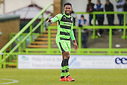 Forest Green's Dale Bennett during the Vanarama National League match between Forest Green Rovers and Eastleigh at the New Lawn, Forest Green, United Kingdom on 20 February 2016. Photo by Shane Healey.