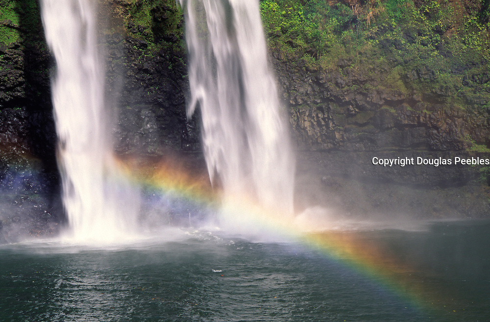 Waterfall with rainbow<br />