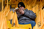 Wolverhampton Wanderers fans and supporters during the EFL Sky Bet Championship match between Wolverhampton Wanderers and Sheffield Wednesday at Molineux, Wolverhampton, England on 29 April 2018. Picture by Alan Franklin.