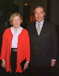 SIR DAVID & LADY RAMSBOTHAM he is HM's Chief Inspector of Prisons, at a reception in London on 3rd March 1999.MOZ 18