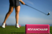 Illustration of tee during the practice round of LPGA Evian Championship 2018, Day 1, at Evian Resort Golf Club, in Evian-Les-Bains, France, on September 10, 2018, Photo Philippe Millereau / KMSP / ProSportsImages / DPPI