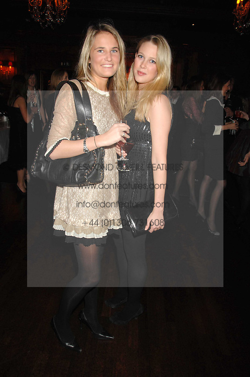 Left to right, VICTORIA VON WESTENHOLZ and EMILY LOPES at a party to celebrate the publication of the 2007 Tatler Little Black Book held at Tramp, 40 Jermyn Street, London on 7th November 2007.<br />