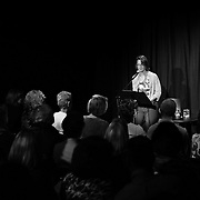 Margaret Talcot introduces Andre Dubus III at The Music Hall Loft