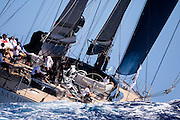 Samurai sailing in the St. Barth's Bucket Regatta.