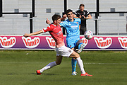 Jake Beesley and Jacob Greaves   during the EFL Sky Bet League 2 match between Salford City and Cheltenham Town at Moor Lane, Salford, United Kingdom on 14 September 2019.