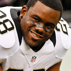 August 17, 2012; New Orleans, LA, USA; New Orleans Saints running back Mark Ingram (28) against the Jacksonville Jaguars during the second half of a preseason game at the Mercedes-Benz Superdome. The Jaguars defeated the Saints 27-24.  Mandatory Credit: Derick E. Hingle-US PRESSWIRE