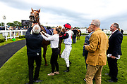 Poppy Bridgwater on MIRACLE GARDEN (trained by Ian Williams) wins the 1610 Bet365 Silk Series Lady Riders' Handicap during Ladies Day at Bath Racecourse - Rogan/JMP - 15/06/2019 - HORSERACING - Bath Racecourse - Bath, England.
