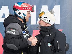 17.01.2017, Hahnenkamm, Kitzbühel, AUT, FIS Weltcup Ski Alpin, Kitzbuehel, Abfahrt, Herren, Streckenbesichtigung, im Bild v.l. Steven Nyman (USA), Rennleiter Axel Naglich // Steven Nyman of the USA and Race director Axel Naglich during the course inspection for the men's downhill of FIS Ski Alpine World Cup at the Hahnenkamm in Kitzbühel, Austria on 2017/01/17. EXPA Pictures © 2017, PhotoCredit: EXPA/ Johann Groder