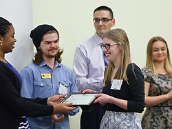 Devon Johnson, Faye M. Anderson/Van Beek Scholarships for Community/Volunteer Service, Celebration of Service at PLU on Wednesday, April 22, 2015. (Photo: John Froschauer/PLU)