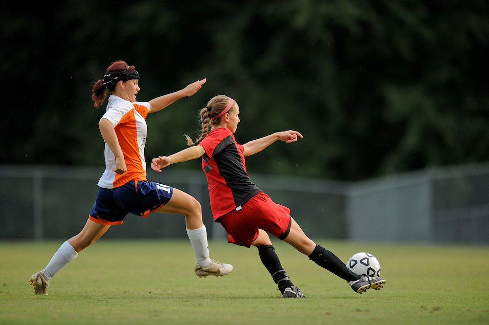 Sept. 15, 2012; Morrow, GA, USA; Clayton State women's soccer player Brooke Bortles against the Flagler at CSU. Photo by Kevin Liles/kdlphoto.com