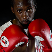 Boxer Andre L. Bennett a fighter from the Double Jab Gym in South London