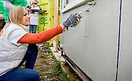 BREDA - King Willem-Alexander and Queen Maxima to work in Area Garden Breda. The royal couple put up their sleeves under NLDoet, the largest voluntary action in the Netherlands. COPYRIGHT ROBIN UTRECHT BREDA - Koning Willem-Alexander en koningin Maxima aan het werk in Buurttuin Breda. Het koningspaar stak de handen uit de mouwen in het kader van NLDoet, de grootste vrijwilligersactie van Nederland.  Koning Willem-Alexander en Hare Majesteit Koningin M&aacute;xima hebben vrijdag 10 maart deelgenomen aan NLdoet van het Oranje Fonds, de grootste vrijwilligersactie van Nederland.<br />  <br /> De Koning en Koningin hebben vrijwilligerswerk gedaan in Buurttuin Breda, in de wijk Hoge Vucht. Zij hebben geholpen bij het opknappen van de tuin na het winterseizoen,  waaronder schoonmaken, schilderen en in de tuin werken. <br />  <br /> De tuin is aangelegd en wordt beheerd door vrijwilligers uit de buurt, die ook het naastgelegen verzorgingshuis, kinderopvang en maatschappelijke organisaties uit de wijk betrekken bij de tuin. De buurttuin heeft een pluktuin, moestuin, kindertuintjes en een natuurspeeltuin. De Stichting Betrokken Ondernemers Samen Voor Breda heeft Nldoet in de Buurttuin georganiseerd, om samenwerking en het overdragen van kennis en kunde te bevorderen.     <br />  COPYRIGHT ROBIN UTRECHT BREDA - King Willem-Alexander and Queen Maxima to work in Area Garden Breda. The royal couple put up their sleeves under NLDoet, the largest voluntary action in the Netherlands. COPYRIGHT ROBIN UTRECHT BREDA - Koning Willem-Alexander en koningin Maxima aan het werk in Buurttuin Breda. Het koningspaar stak de handen uit de mouwen in het kader van NLDoet, de