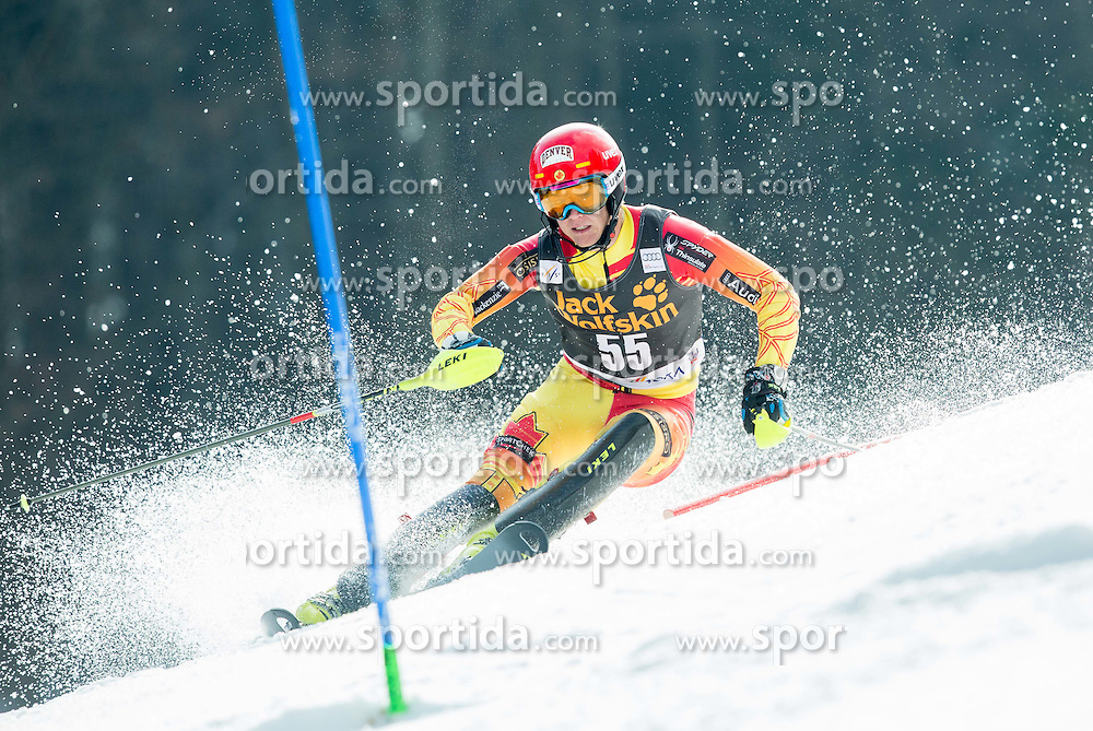 READ Erik of Canada competes during 1st Run of Men Slalom race of FIS Alpine Ski World Cup 54th Vitranc Cup 2015, on March 15, 2015 in Kranjska Gora, Slovenia. Photo by Vid Ponikvar / Sportida