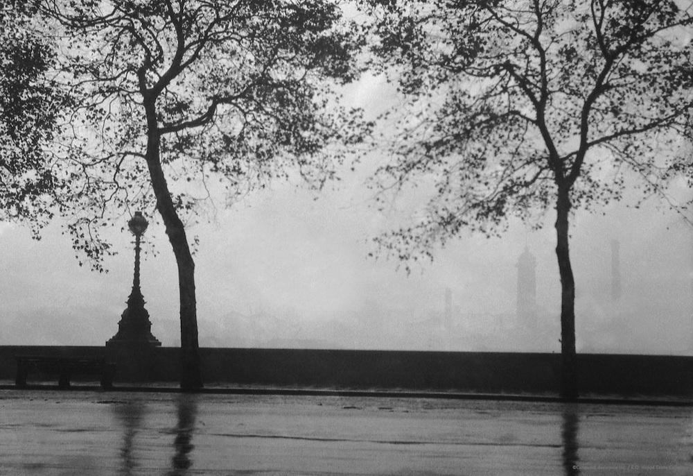 Rain, Embankment, London, 1916