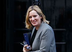 © Licensed to London News Pictures. 22/11/2016. London, UK. Home Secretary AMBER RUDD leaves Downing Street on Tuesday, 22 November 2016. Photo credit: Tolga Akmen/LNP
