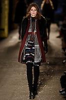 Lara Mullen walks down runway for F2012 Rag & Bone collection in Mercedes Benz fashion week in New York on Feb 10, 2012 NYC
