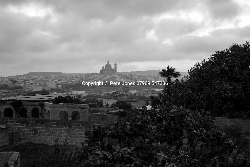View From Sannat of Xewkija;<br /> Gozo, Malta, Europe.<br /> Summer 2016.
