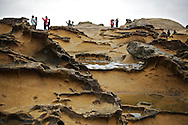 "This ""honeycomb weathering"" can be found all over Yehliu GeoPark."
