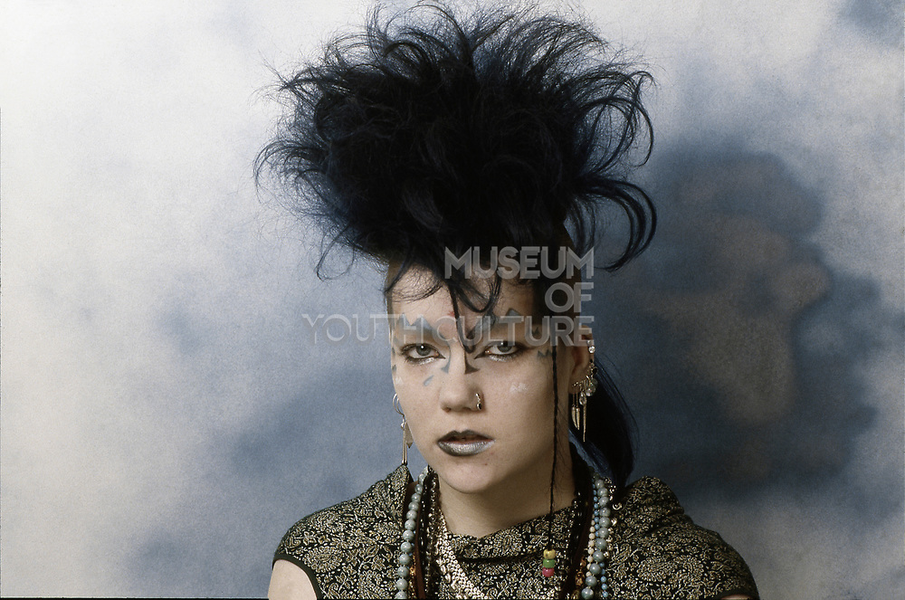 Girl with Punk Hairstyle, High Wycombe, UK, 1980s.