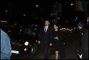 Jeremy Hunt and wife Lucia Guo, Conservative Party Black and White Ball fundraiser 2015, Grosvenor House. Park Lane, London. 9 February 2015