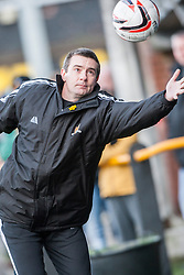 Alloa Athletic's manager Barry Smith.<br /> Alloa Athletic 3 v 0 Falkirk, Scottish Championship game played today at Alloa Athletic's home ground, Recreation Park.<br /> &copy; Michael Schofield.