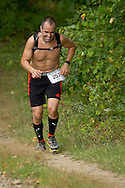 New Paltz, New York - Jason Beaupre runs through the Mohonk Preserve during the Shawangunk Ridge Trail Run/Hike 20-mile race  on Sept. 20, 2014.