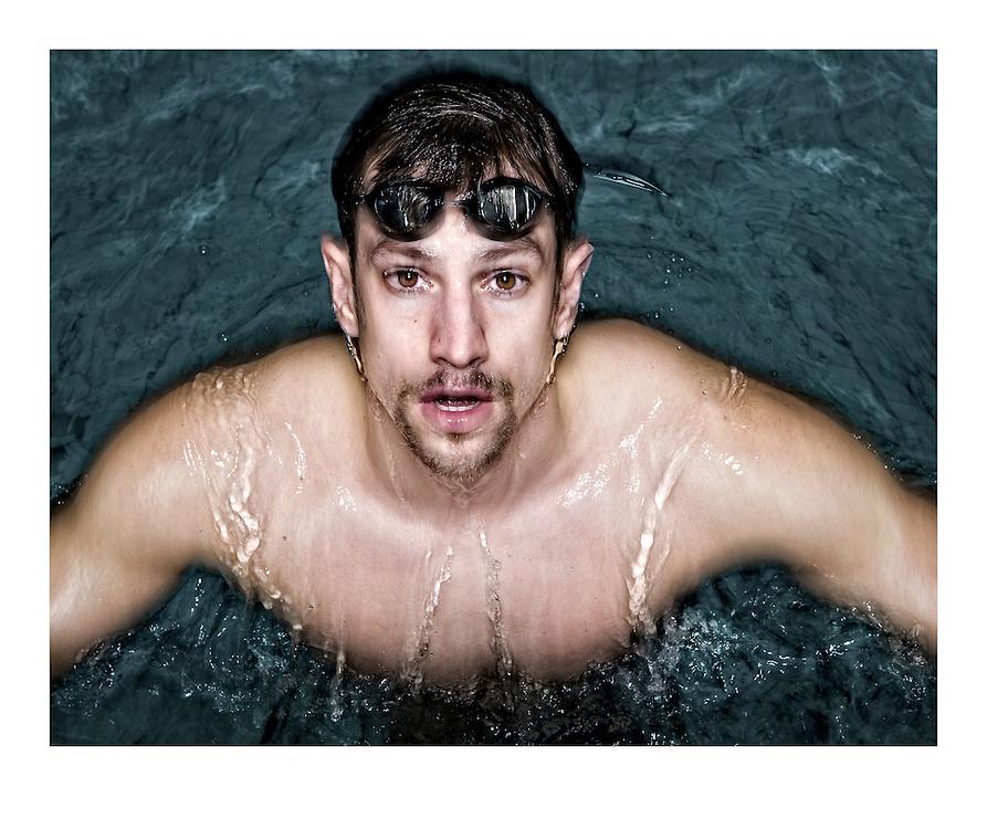 Nederland. Amsterdam, 19-03-2014. Foto: Patrick Post.  Portret van zwemmer Joeri Verlinden.