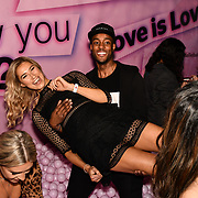 Lilly Douse and Stefan Pierre attend Bachelor girls wrap party after Channel 5 serial of The Bachelor girls 2019 UK  17 desperate female complete to win Alex Marks. Five Eliminated girls continues enjoy the single life party at Balle Ballerson in fact, in the UK there are 1.1 millions female more than male on 27 March 2019, London, UK.