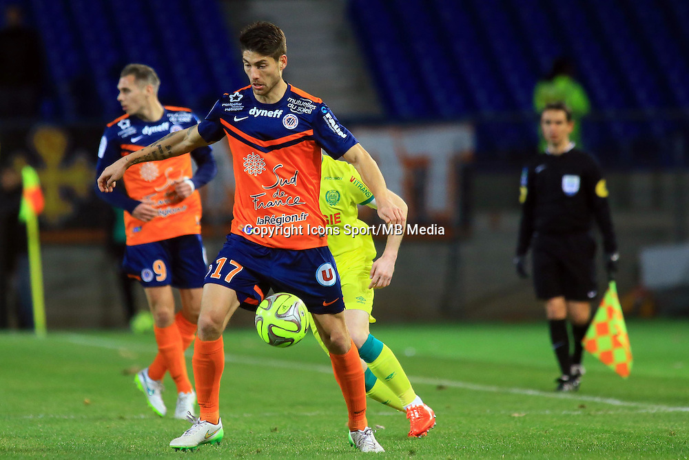 Paul LASNE  - 24.01.2015 - Montpellier / Nantes  - 22eme journee de Ligue1<br />