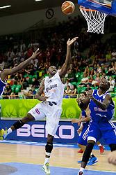 Wen Mukubu #12 of Belgium during basketball match between National teams of Belgium and Great Britain at Day 3 of Eurobasket 2013 on September 6, 2013 in Tivoli Hall, Ljubljana, Slovenia. (Photo By Urban Urbanc / Sportida )