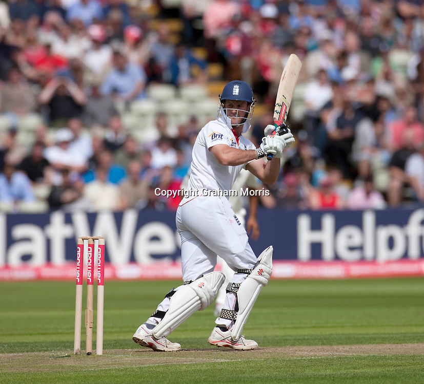Andrew Strauss bats during the third npower Test Match between England and India at Edgbaston, Birmingham.  Photo: Graham Morris (Tel: +44(0)20 8969 4192 Email: sales@cricketpix.com) 11/08/11