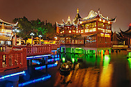 Yuyuan Gardens at night, Shanghai, China