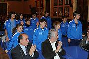 DESCRIZIONE : Roma Salone D Onore del Coni Nazionale Under 18 Femminile Presentazione Libro &quot;Ragazze d'Oro&quot;, &quot;Minibasket, l'emozione, la scoperta, il gioco&quot; e &quot;Mamma, giurami che qui non c'&egrave; il terremoto&quot;<br /> GIOCATORE : Bambini Centro Minibasket L'Aquila L Aquila<br /> SQUADRA : <br /> EVENTO :  Nazionale Under 18 Femminile Presentazione Libro &quot;Ragazze d'Oro&quot;, &quot;Minibasket, l&Otilde;emozione, la scoperta, il gioco&quot; e &quot;Mamma, giurami che qui non c&Otilde; il terremoto&quot;<br /> GARA : <br /> DATA : 20/12/2010<br /> CATEGORIA : Presentazione Conferenza Stampa Ritratto<br /> SPORT : Pallacanestro <br /> AUTORE : Agenzia Ciamillo-Castoria/GiulioCiamillo<br /> Galleria : Lega Basket A 2010-2011 <br /> Fotonotizia : Roma Salone D Onore del Coni Nazionale Under 18 Femminile Presentazione Libro &quot;Ragazze d'Oro&quot;, &quot;Minibasket, l&Otilde;emozione, la scoperta, il gioco&quot; e &quot;Mamma, giurami che qui non c&Otilde; il terremoto&quot;<br /> Predefinita :
