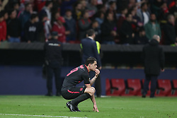 May 3, 2018 - Madrid, Spain - GRANIT XHAKA of Arsenal FC looks dejected after defeat during the UEFA Europa League, semi final, 2nd leg football match between Atletico de Madrid and Arsenal FC on May 3, 2018 at Metropolitano stadium in Madrid, Spain (Credit Image: © Manuel Blondeau via ZUMA Wire)