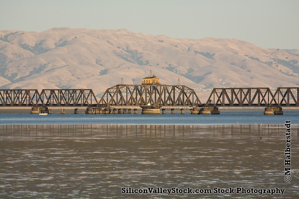 Dumbarton Rail Bridge connecting Fremont with Menlo Park