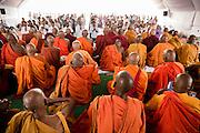 The Japanese monk Surai Sasai has worked for the rights of Dalits in India since 1966. Surai Sasai leads mass conversions of Hinuds to Buddhism<br /> <br /> Photo by Christina Sj&ouml;gren<br /> <br /> <br /> Japanske munken Surai Sasai har k&auml;mpat f&ouml;r daliternas r&auml;ttigheter i det indiska samh&auml;llet sedan 1966. Sasai leder masskonverteringar av hinduer till buddismen. Nagpur, Indien