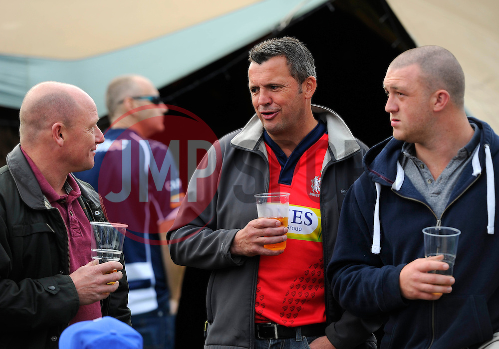 Fans enjoy the World cup village before the game  - Mandatory byline: Joe Meredith/JMP - 07966386802 - 04/10/2015 - RUGBY - Ashton Gate -Bristol,England - Bristol Rugby v Rotherham Titans - Greene King IPA Championship