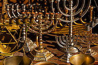 Menorahs, the flea market, Old Jaffa (Tel Aviv), Israel.