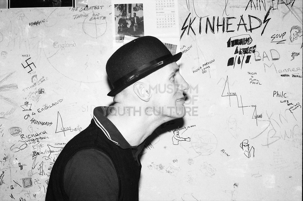Goddard next to Graffiti, Hawthorne Rd, High Wycombe, UK, 1980s.