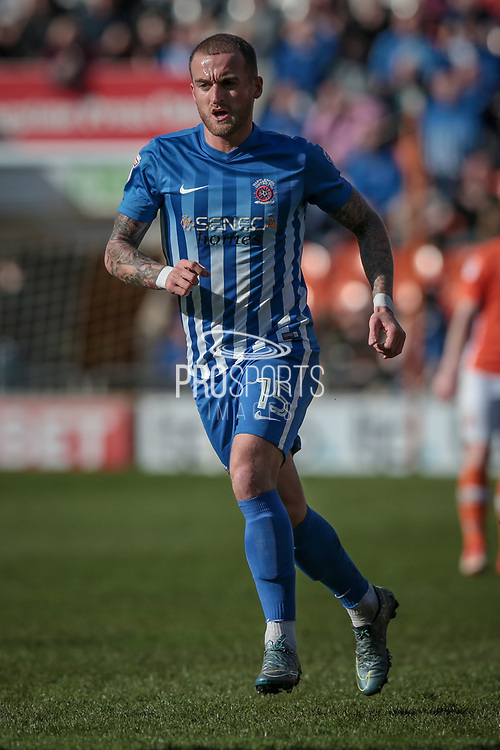 Lewis Alessandra (Hartlepool United) during the EFL Sky Bet League 2 match between Blackpool and Hartlepool United at Bloomfield Road, Blackpool, England on 25 March 2017. Photo by Mark P Doherty.