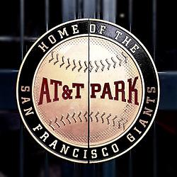 AT&T Park door handle, 2015.