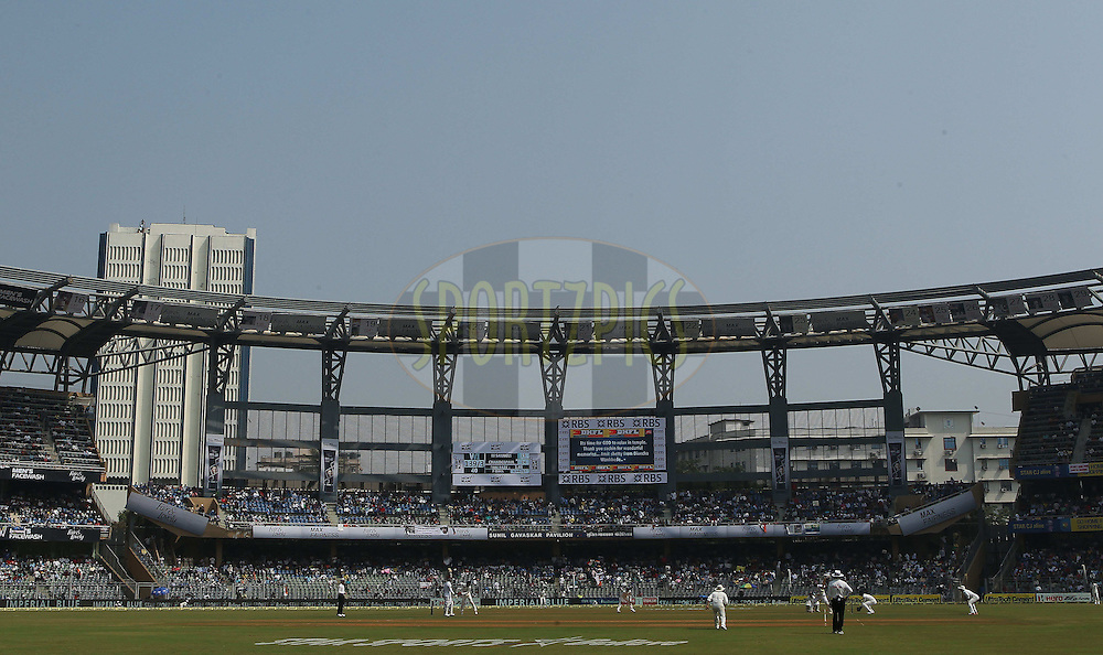 GV during day one of the second Star Sports test match between India and The West Indies held at The Wankhede Stadium in Mumbai, India on the 14th November 2013<br /> <br /> This test match is the 200th test match for Sachin Tendulkar and his last for India.  After a career spanning more than 24yrs Sachin is retiring from cricket and this test match is his last appearance on the field of play.<br /> <br /> <br /> Photo by: Ron Gaunt - BCCI - SPORTZPICS<br /> <br /> Use of this image is subject to the terms and conditions as outlined by the BCCI. These terms can be found by following this link:<br /> <br /> http://sportzpics.photoshelter.com/gallery/BCCI-Image-Terms/G0000ahUVIIEBQ84/C0000whs75.ajndY